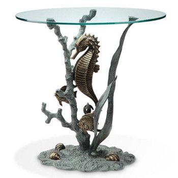 seahorse decor | Seahorse Table - Beach Decor Shop - Too much for a bathroom, but very cool.