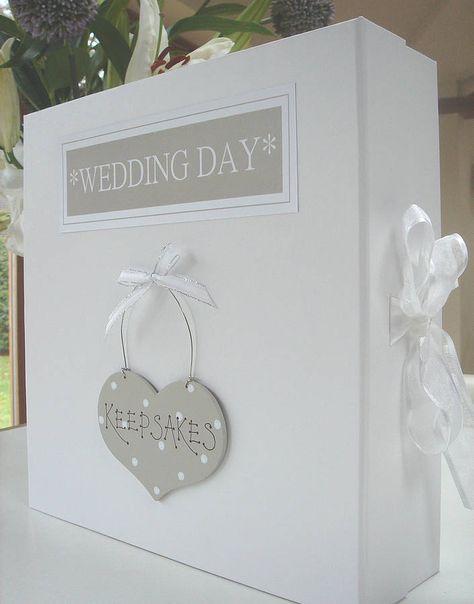Large Personalised Wedding Gift Keepsake Box   Wedding keepsake ...