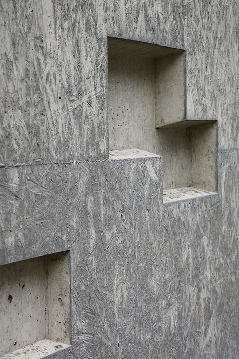 Triple Platte, chipboard formwork  Erweiterung Historisches Museum, Bern mlzd, 2009   http://www.architekturpreis-beton.ch/2013/TITAN-KUBUS-ERWEITERUNG-BERNISCHES-HISTORISCHES-MUESUM-BHM-BERN/