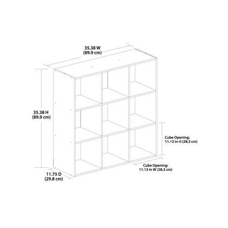 Multiple Colors Mainstays 9 Cube Storage Organizer