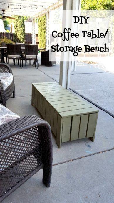 Diy Outdoor Coffee Table Storage Bench Tutorial Diy Outdoor