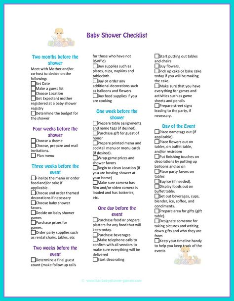 baby shower checklist to help plan the perfect baby shower party.