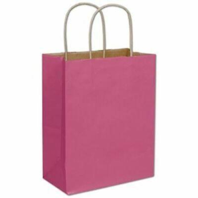 Details About 250 Cerise Pink Color On Kraft Paper Bags Shoppers 8 1 4 X 4 1 4 X 10 3 4 In 2020 Pink Color Cerise Pink Paper Bag