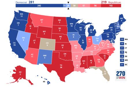 Presidential Election Interactive Map Colors The Ojays - Interactive us map election prediction