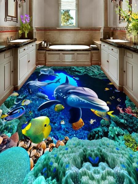 3D Mysterious Seabed Floor Mural