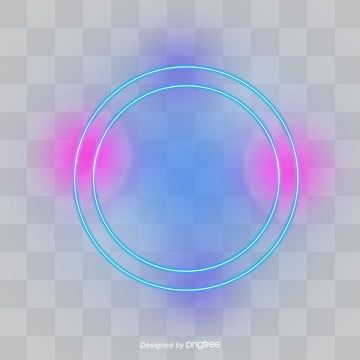 Coloured Neon Effect Circular Border Luminous Efficiency Luminescence Round Border Png Transparent Clipart Image And Psd File For Free Download Clip Art Borders Frame Clipart Box Frames