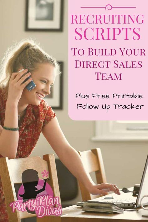 Use these Direct Sales Recruiting Scripts to help grow your team with motivated, excited people! Plus Free Printable Follow Up Tracker!