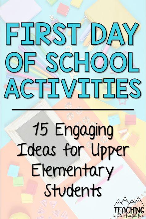 Middle School Literacy, Education Middle School, First Day Of School Activities, Elementary Schools, Upper Elementary, School Six, 1st Day Of School, Beginning Of School, School Ideas