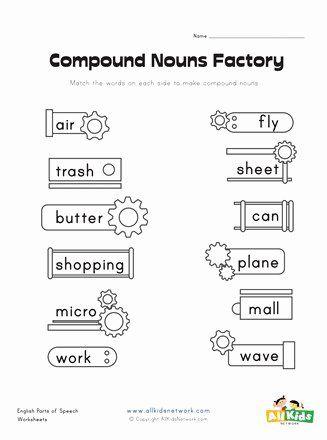 2nd Grade Compound Words Worksheet Unique Pound Nouns Factory Worksheet 1 Compound word worksheet 2nd grade