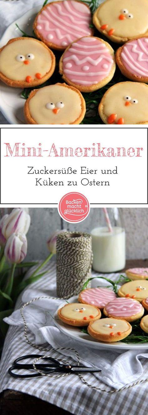 Miniatur-Variante des beliebten Gebäcks: Amerikaner kann man je nach Anlass individuell dekorieren. ZB als sü�e kleine Küken und Eier zu Ostern.