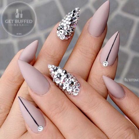 Fake Nails Way To Do Stiletto Nails Matte Violet ❤️ Best Stiletto Nails Designs, Ideas, Tips, For You❤️ See more: https://naildesignsjournal.com/stiletto-nails-hip-ideas/ #naildesignsjournal #nails #nailart #naildesigns