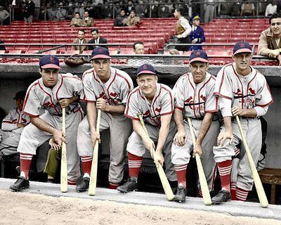 Garagiola Slaughter Musial Photo 8x10 1946 Cardinals Colorized St Louis Cardinals Baseball Cardinals Baseball St Louis Baseball
