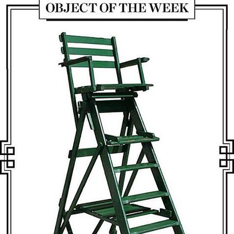 Lapada Fair On Instagram Happy Wimbledon Loving This Week S Object Of The Week With This Vintae Tennis Umpire Chair Circa 1940 Object Wimbledon Green Paint