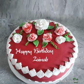 Happy Birthday Zainab Video And Images Happy Birthday Cake