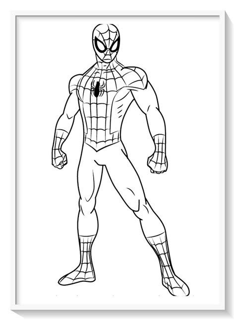 Spider Man Far From Home Coloring Pages Printable Superman Coloring Pages Spiderman Spiderman Coloring