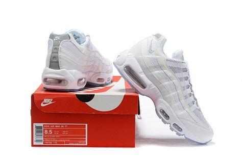 Nike Air Max 95 Essential White Silver Mens Running Shoes
