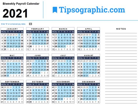 Download the 2021 Biweekly Payroll Calendar