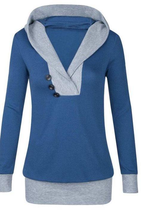 WSPLYSPJY Womens Long Sleeve Pullover Sweatshirt Cowl Neck Casual Tunic Tops