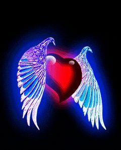 Great Animated Winged Heart Gifs at Best Animations