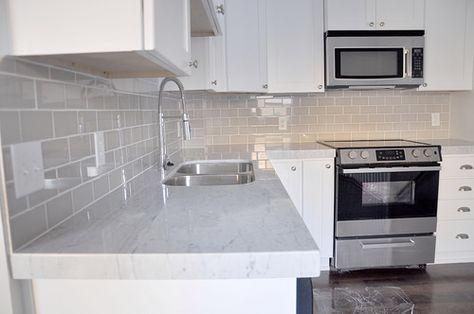 Kitchen Backsplash And Fireplace