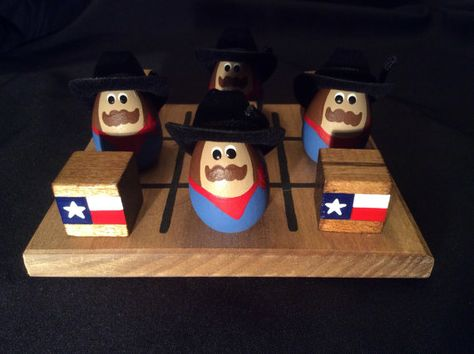 TEXAS Tic-Tac-Toe Set by WOODuPlayGames on Etsy