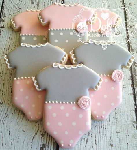 Onesie Baby Shower Baby Girl Cookies