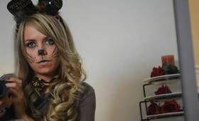 HALLOWEEN SMOKEY EYE CAT/MOUSE MAKEUP & HAIR TUTORIAL ...