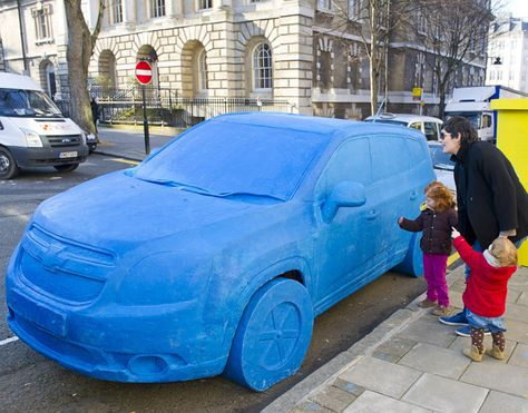 After Conducting A Poll To Discover The Most Loved Childhood Toy Chevrolet Used The Winning Play Doh To Create A Street Adv Chevrolet Orlando Play Doh Cars Play Doh