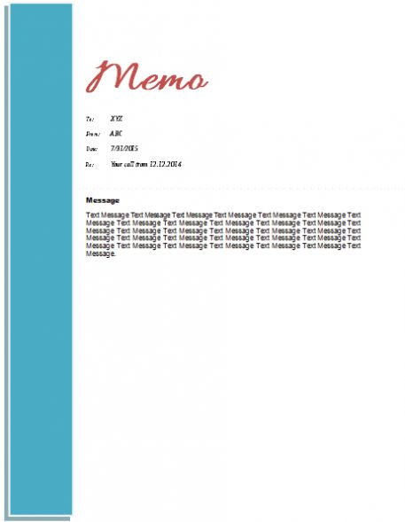 Memo Template Word 2010 In 2021 Memo Template Template Word Word Template