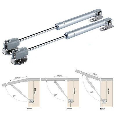 Details About 2 Pack Door Hinge Gas Spring Strut Prop Shock Lift Kitchen Cabinet Hydraulic En 2020 Mobilier De Salon Ascenseur Porte Armoire