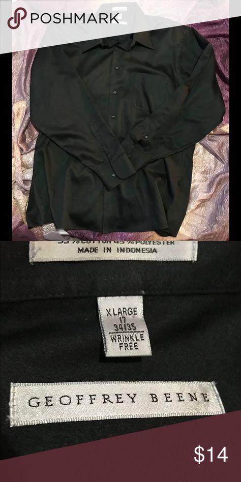 Geoffrey Beene Black Button Down Shirt New without tags Geoffrey Beene  Long sleeve button down shirt Size XL Geoffrey Beene Shirts Casual Button Down Shirts