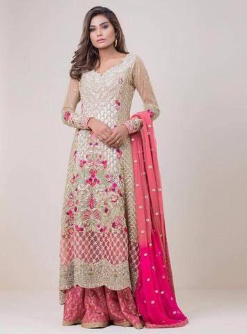 a17eb526b7e Zainab Chottani Chiffon Suit, Ladies Replica Shop, Embroidered Dress ...