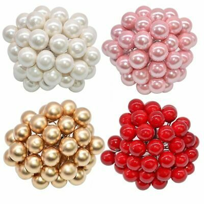 Supplies Plastic Berries Cherry Pearl Artificial Flowers Christmas Ornament