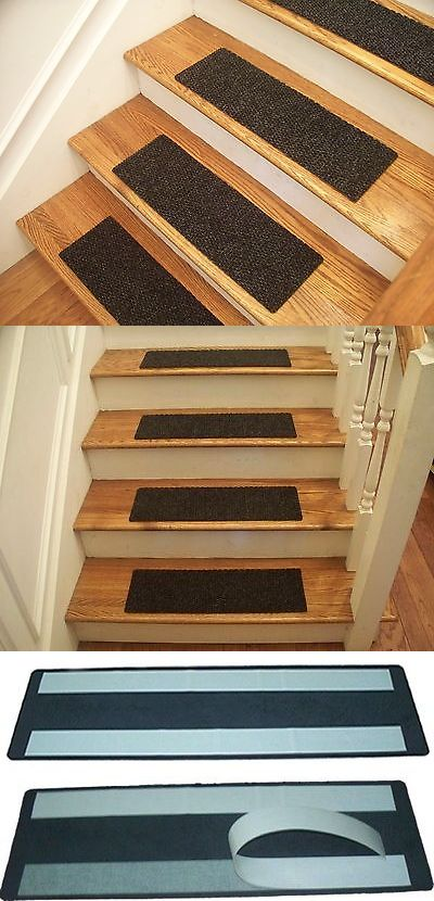 Stair Treads 175517 Premium Carpet Stair Tread Sets Berber Charcoal 30 X 8 Buy It Now Only 144 99 On Ebay Stair Tre Carpet Stair Treads Stair Treads Carpet