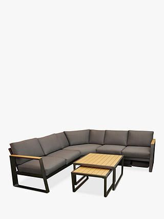 Lg Outdoor Roma 5 Seat Modular Garden Tables And Chairs Lounging Set Anthracite Grey Garden Table Chairs Modular Corner Sofa Garden Table