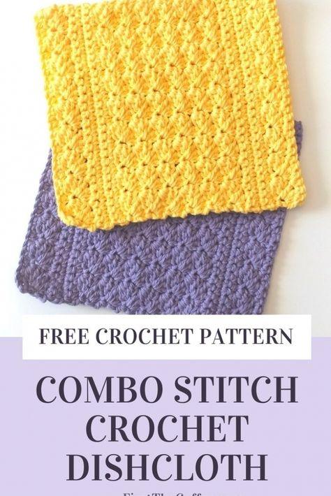 Purple 100/% Cotton Crocheted Washcloths//Dishcloths