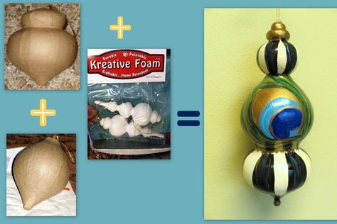 how to make large diy finial ornaments