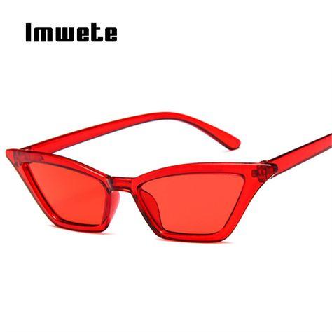 41edeaa138fa Imwete Cat Eye Sunglasses Women Brand Design Jelly Color Sun Glasses Sexy Sunglasses  Ladies Triangle Small Frame Sunglass UV400