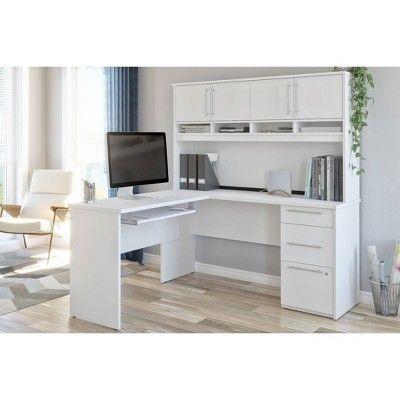 Innova Plus L Shaped Desk White Bestar White Desks Desk