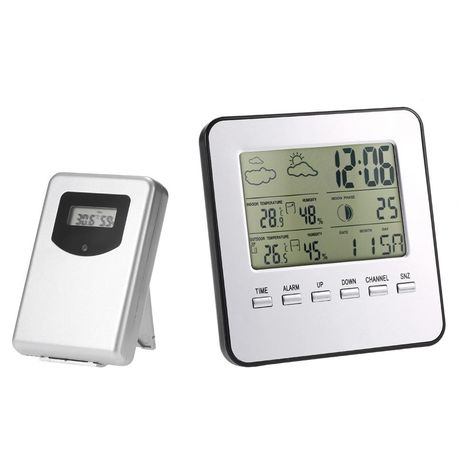 uhr thermometer // hygrometer usb digital station funk wetterstation usb