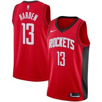 Men S Houston Rockets James Harden Nike Red 2019 2020 Swingman Jersey Icon Edition In 2020 Houston Rockets Nba Jersey Basketball Clothes