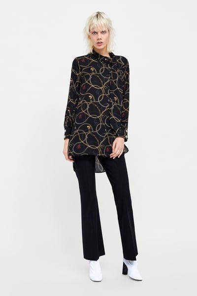 3b332f298385 Imagen 1 de BLUSA ESTAMPADO CADENAS de Zara | All about Zara ♡ en ...