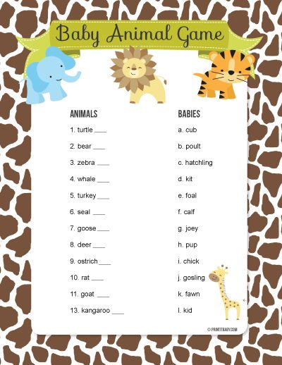 Jungle Safari Baby Shower | Baby Shower Bingo, Baby Shower Games And Gaming