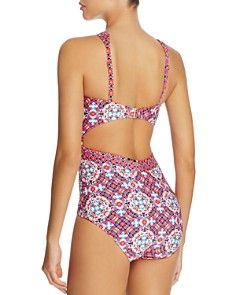 Laundry By Shelli Segal Mayan Escape One Piece Swimsuit