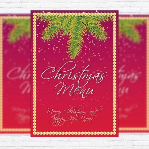 Christmas Menu Vol 2 Premium A5 Template And Free Psd Templates Pinterest и Flyer