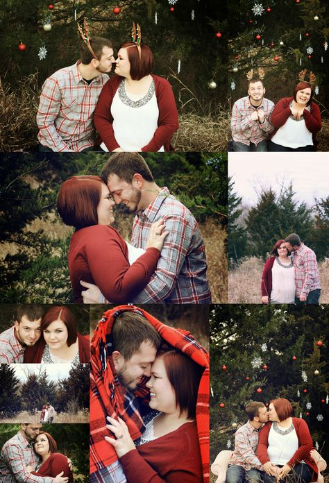 Christmas Photography Cute Couple With A Plaid Blanket Lifestyle En Christmas Photography Couples Christmas Mini Sessions Outdoor Christmas Photos Outdoors