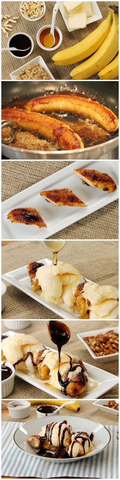 Brown Butter Banana Dessert Recipe @Nat Valik Gonzalez Mamá apunta!!! mmmmmmm bananassss