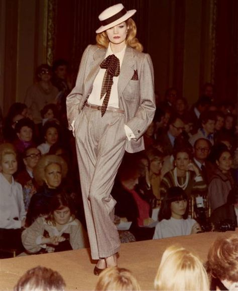 e3af8d792645d 1983 - Yves Saint-Laurent tuxedo Androgyny is timelessly alluring. And yes.  Cigarettes are accessories too. | Accessories Are Everything in 2019 |  Fashion, ...