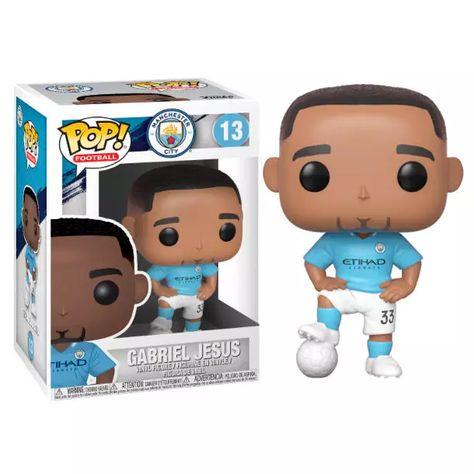 Figurine Football Funko POP! Gabriel Jesus Manchester City 9cm - Funko Pop! Football 22/Premier League - 1001-Figurines