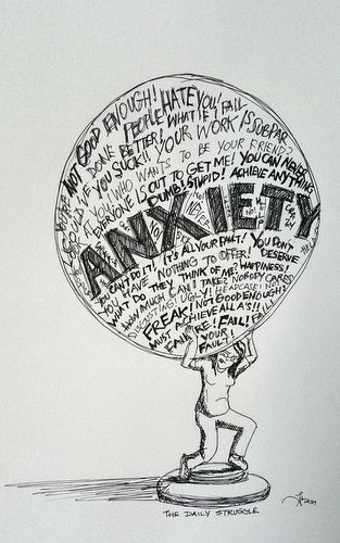 I Drew How Anxiety Affects Me